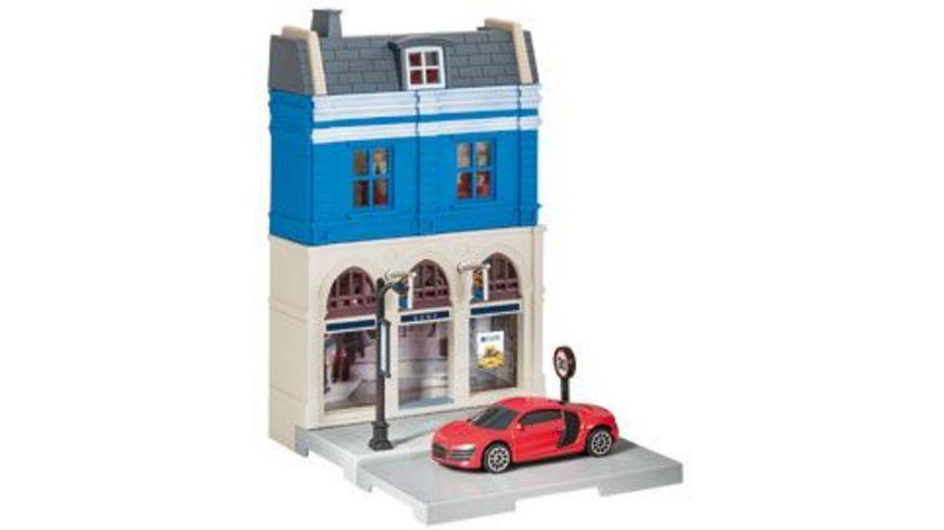Herpa 800037 Herpa City Bankgebaeude mit Audi R8