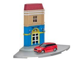 Herpa 800099 Herpa City Hotelgebaeude mit Porsche