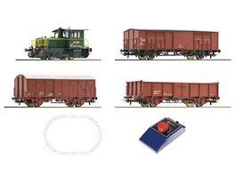 Roco 51158 Analog Start Set Diesellokomotive D 214 mit Gueterzug FS