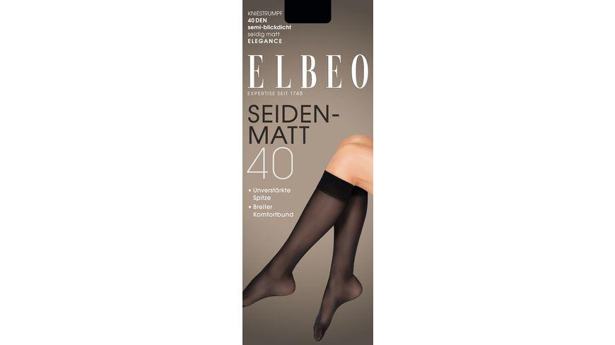 ELBEO Kniestrumpf Seidenmatt 40