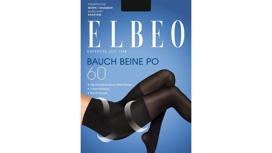 ELBEO Damen figurformende Feinstrumpfhose Bauch Beine Po 60 DEN
