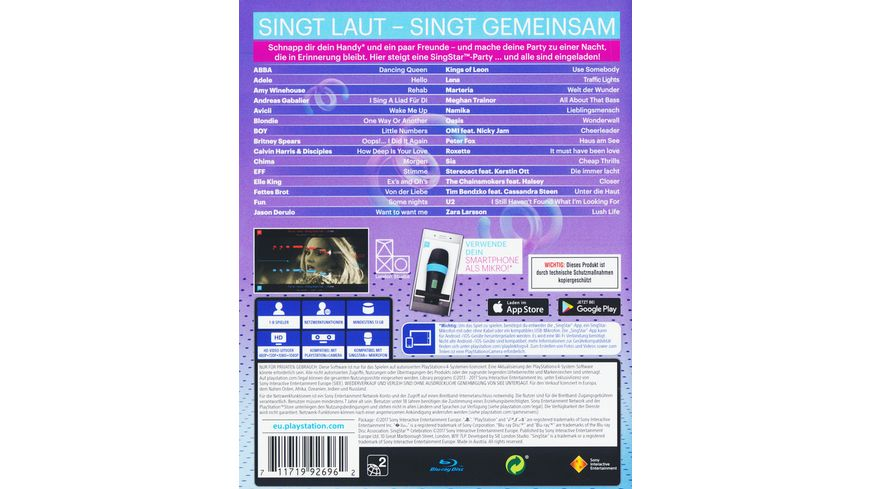 SingStar Celebration PlayLink