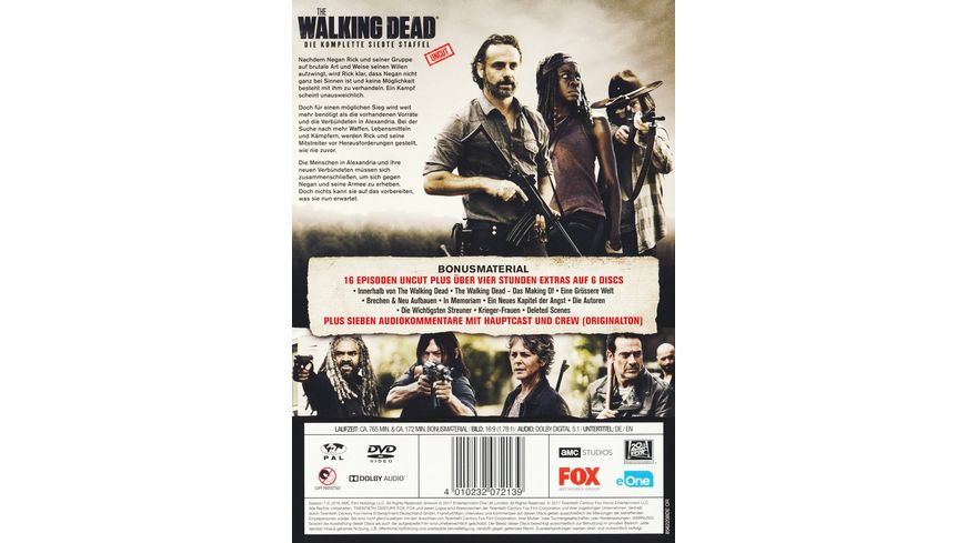 The Walking Dead Die komplette siebte Staffel Uncut 6 DVDs
