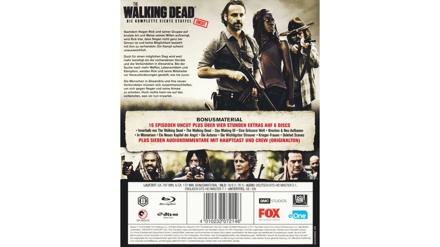 The Walking Dead Die komplette siebte Staffel Uncut 6 BRs