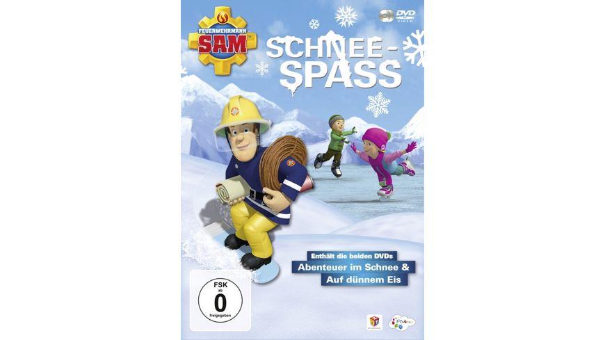 Feuerwehrmann Sam Schneespass inkl Abenteuer im Schnee Auf duennem Eis 2 DVDs