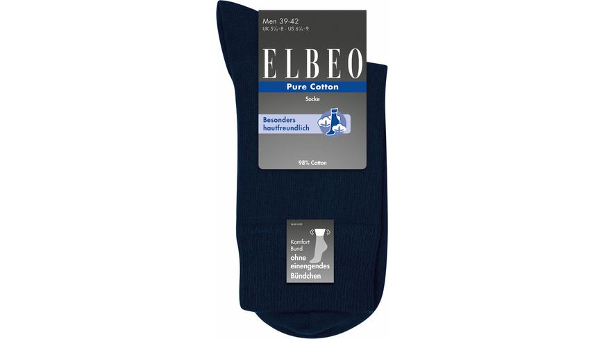 ELBEO Herrensocke Pure Cotton Sensitive