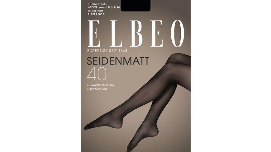 ELBEO Damen Feinstrumpfhose Seidenmatt 40 DEN