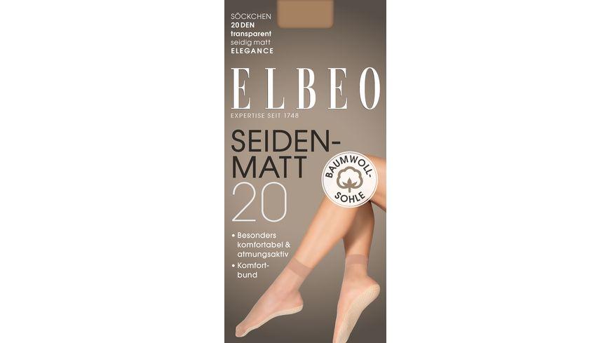 ELBEO Damen Soeckchen mit Baumwoll Sohle Seidenmatt 20 DEN