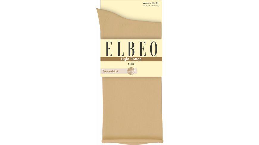 ELBEO Damen Socken mit Rollbund Light Cotton