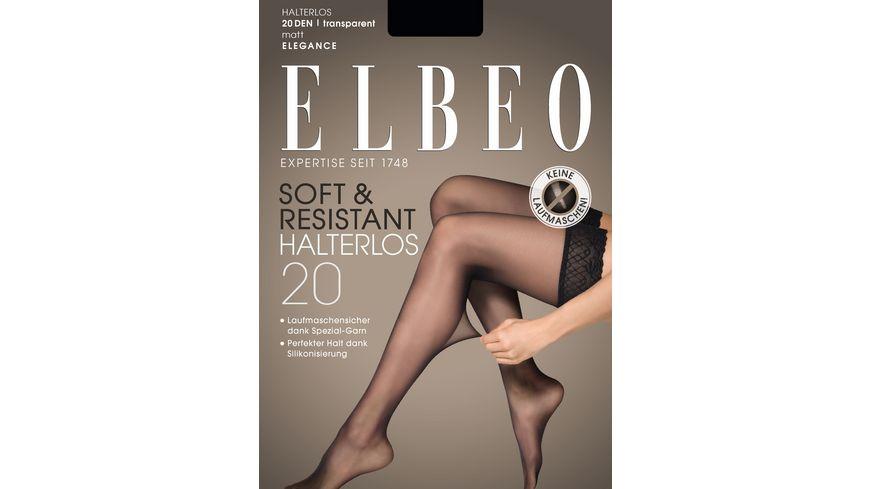 ELBEO Damen Halterlose Struempfe Soft Resistant 20 DEN