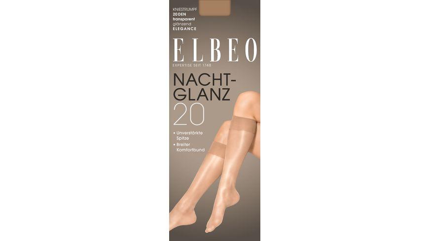 ELBEO Damen Kniestruempfe Nachtglanz 20 DEN