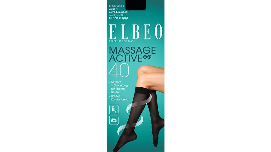 ELBEO Kniestrumpf Massage Active 40