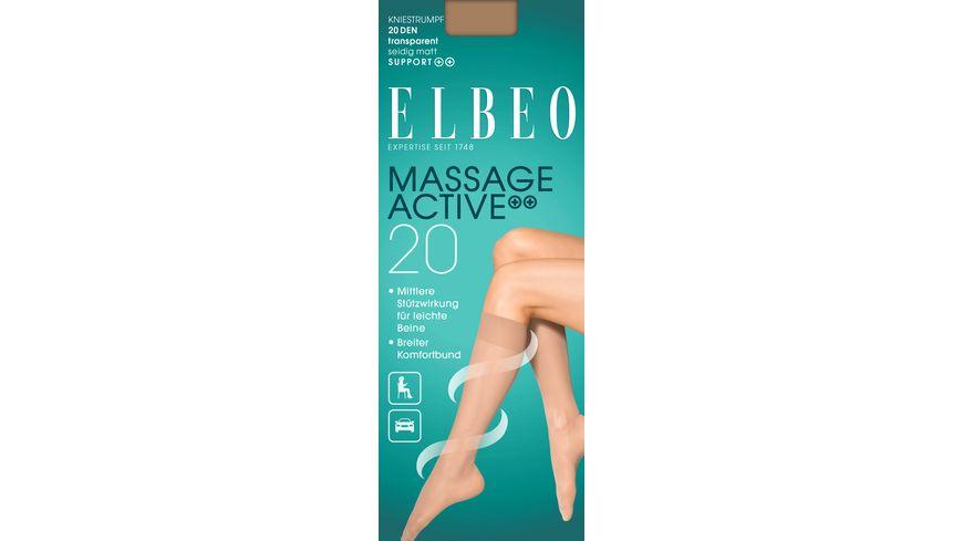 ELBEO Kniestrumpf Massage Active 20