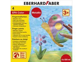 EBERHARD FABER Fingermalfarben metallic 4 X 100 ml