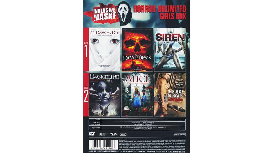 Horror Unlimited Girls Box inkl Maske 2 DVDs