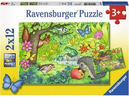 Ravensburger Puzzle Tiere in unserem Garten 2x12 Teile