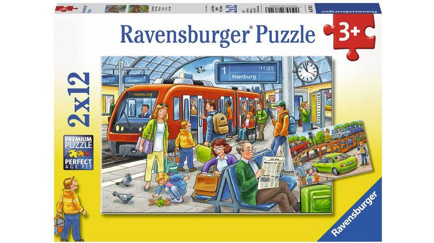 Ravensburger Puzzle Bitte einsteigen Teile 2x12 Teile