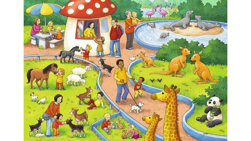 Ravensburger Puzzle Ein Tag im Zoo 2x24 Teile