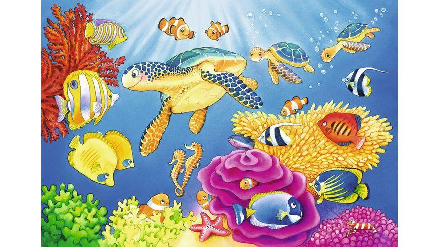 Ravensburger Puzzle Kunterbunte Unterwasserwelt 2x24 Teile