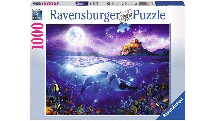 Ravensburger Puzzle Wale im Mondschein 1000 Teile