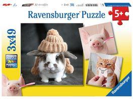 Ravensburger Puzzle Witzige Tierportraits 3x49 Teile