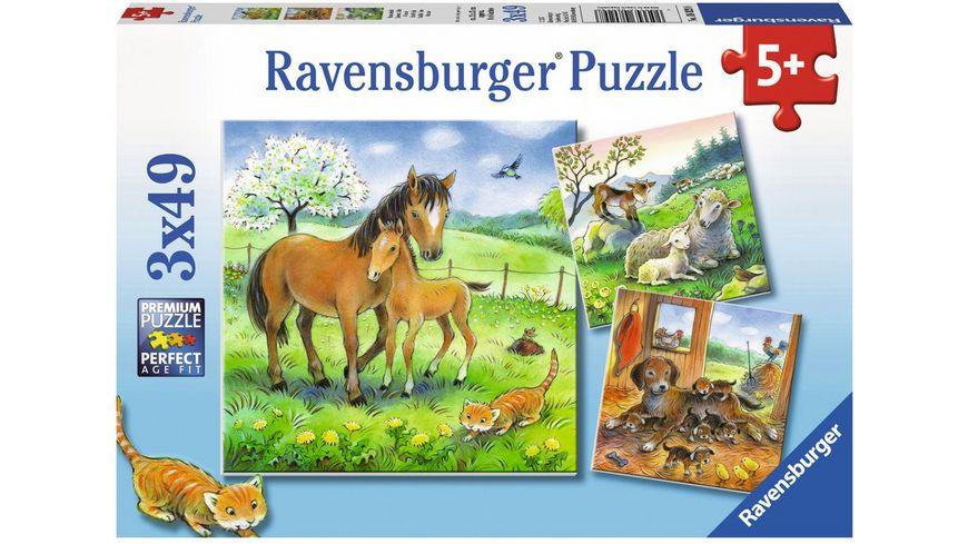 Ravensburger Puzzle Kuschelzeit 3x49 Teile