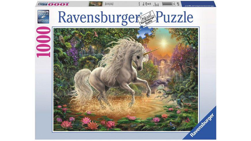 Ravensburger Puzzle Mystisches Einhorn 1000 Teile