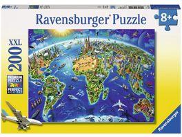 Ravensburger Puzzle Grosse weite Welt 200 Teile XXL
