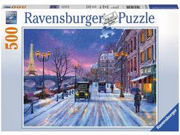 Ravensburger Puzzle Winter in Paris 500 Teile