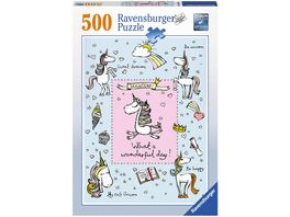 Ravensburger Puzzle Einhornliebe 500 Teile