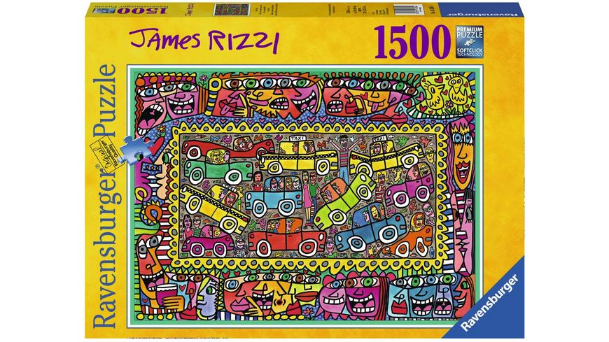 Ravensburger Puzzle James Rizzi We are on our way to your party 1500 Teile