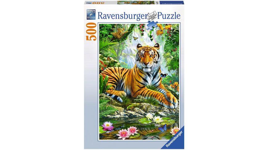 Ravensburger Puzzle Tiger im Urwald 500 Teile