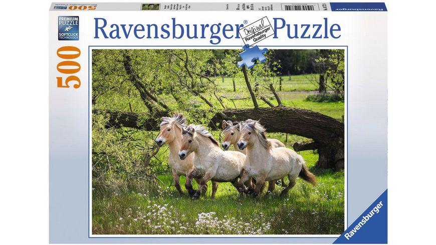 Ravensburger Puzzle Norwegische Fjordpferde 500 Teile