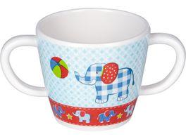 Die Spiegelburg Melamin Tasse mit 2 Henkeln Elefant BabyGlueck