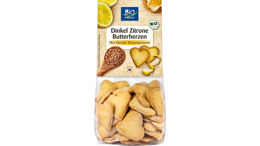 BIO PRIMO Butterherzen Dinkel Zitrone