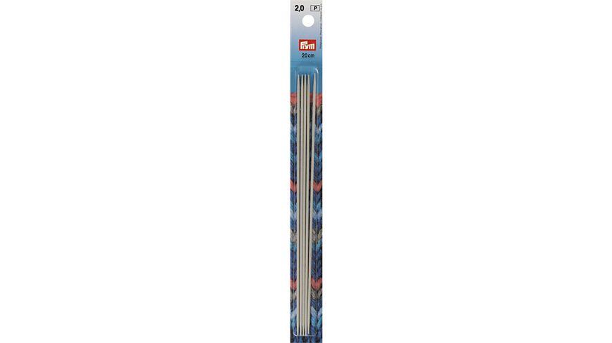 Prym Strumpfstricknadeln 20cm Staerke 2