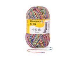 Schachenmayr Sockenwolle REGIA 4 faedig Color 50g