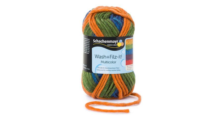 Schachenmayr Filzwolle Wash+Filz-it! Multicolor 50g
