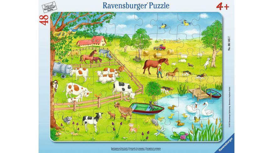 Ravensburger Puzzle Spaziergang auf dem Land 30 Teile