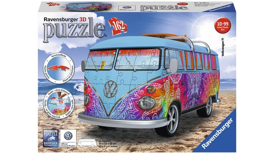 Ravensburger Puzzle 3D Puzzle Sonderformen VW Bus T1 Indian Summer