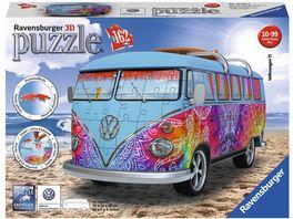 Ravensburger Puzzle 3D Puzzle Sonderformen VW Bus T1 Indian Summer