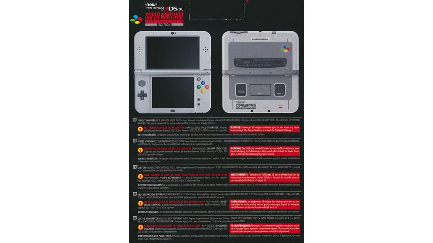 New Nintendo 3DS XL Konsole SNES Edition
