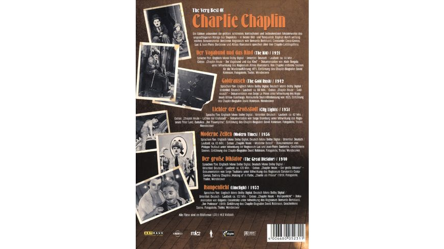 Charlie Chaplin The Very Best Of 6 DVDs