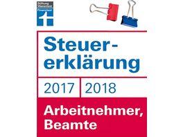 Stiftung Warentest Buch Steuererklaerung 2017 2018 fuer Arbeitnehmer Beamte