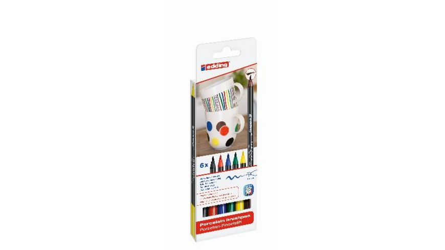 edding Porzellan Pinselstift 4200 6er Set family colour