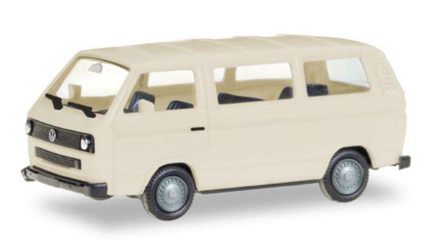 Herpa 13083 - Herpa MiniKit: VW T3 Bus, elfenbein (unbedruckt)