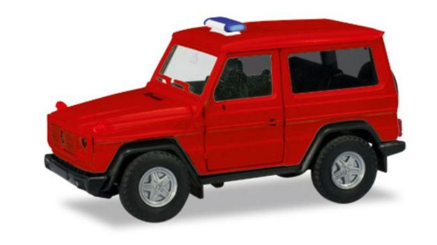 Herpa 13086 Herpa MiniKit Mercedes Benz G Modell rot unbedruckt Blaulichtbalken wird beigelegt