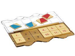 miniLUeK Loesungsgeraet fuer alle MiniLUeK Uebungshefte Jubilaeumskontrollgeraet mit Klarsichtdeckel Gold