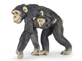 Papo Schimpanse mit Baby 6 cm