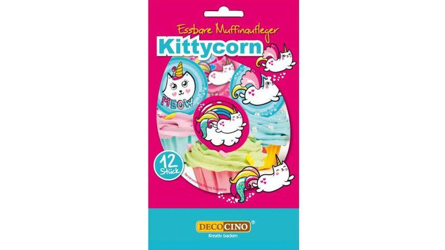 Dekoback Kittycorn Muffinaufleger 12er Pack